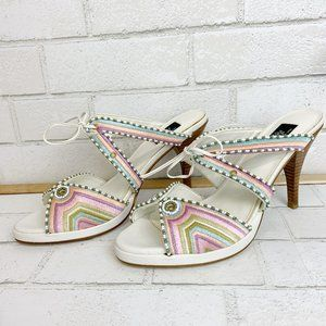 "Hot in Hollywood Woven Pastel Slip-On 4.5"" Heel"